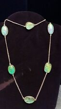 Collana Arg 925 Opali Lab- Necklace Arg 925 Opals Lab