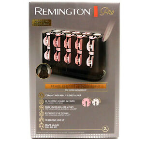 Remington Pro Hair Setter Curlers H9100 Pearl Ceramic 20 Rollers 90 Sec Heat Up