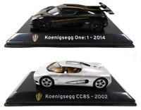 Lot de 2 Voitures de Sport Koenigsegg 1/43 IXO Collection Supercars Diecast SL1