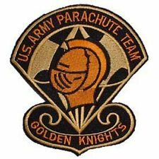 US Army Parachute Team Golden Knights Iron on Patch USA 3""