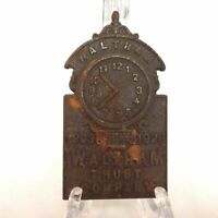 Cast Iron Waltham Trust Co.  1903-1928 Figural Paperweight Plaque MA