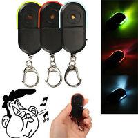 Wireless Anti-Lost Alarm Key Finder Locator Keychain Whistle Sound LED Light EW