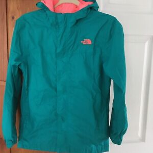 THE NORTH FACE GIRLS HOODED JACKET SIZE 16-18 GREEN