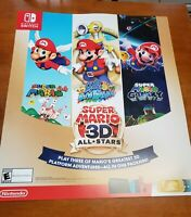 Super Mario 3D All-Stars Store Display Promo Poster Nintendo Switch 28x24