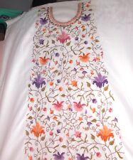 Women suit cotton hand embroidery Kashmiri unstiched salwar suit dress material