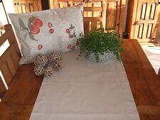"""Tischläufer """"Kleine Größen""""  Natur, Uni, Baumwollmischung"""