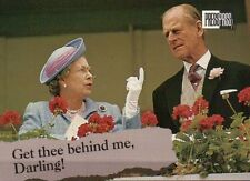 Queen Elizabeth II and Prince Philip - Royal Family Trading Card, Not a Postcard