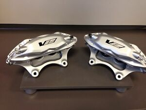 CTS-V Silver 4 Piston Front Calipers Pair New Cadillac Brembo Pontiac G8