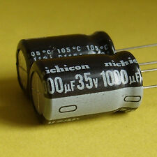 Nichicon 35V 1000uF Low-ESR Electrolytic Capacitor x5pcs.Japan New Free Shipment
