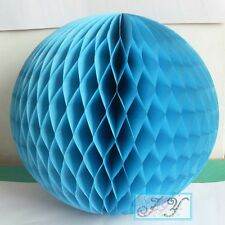 4x 8''/20cm blue paper honeycomb balls boy 1st birthday party venue decoration