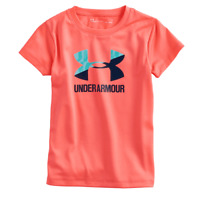 New Under Armour Girl's Wordmark Logo T-Shirt SIZE 4,5 MSRP:$18.00