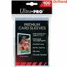 100 x Ultra Pro Platinum Series Premium Card Soft Clear Sleeves Pack MTG