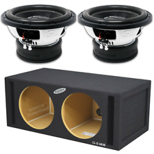 "CT Sounds Dual Tropo 12"" Subwoofer Bass Package W/ Made in the USA Ported Box"