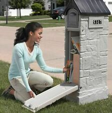 Large Locking Security Mailbox Stone Looking Outdoor Plastic Mail Best Big Huge