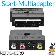 TV AV Scart Adapter Cinch Nintendo SNES NES N64 Gamecube Dreamcast ATARI Stecker