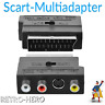 TV Scart Adapter AV 3x Cinch Buchse + S-Video Stecker Chinch RGB Video Audio EU