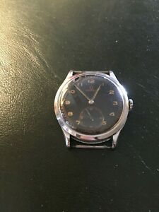 Vintage Omega Military Stainless Steel Watch Manual Cal.30T2  37 mm