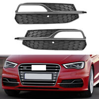 Fit For 2015-2016 Audi A3 SLine S3 Front Left Right Fog Lights Cover Trim Grille