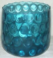 Mid Century Modern Empoli Italian Blown Glass Blue Optic Large Vase Jardiniere