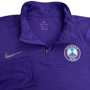 Nike Orlando FL Pride 1/4 Zip Purple Long Sleeve Dri FitMens Pullover Shirt XL