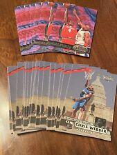 Chris Webber 1997-98 Metal Universe Washington Wizards Lot of 32 Series 1 and 2