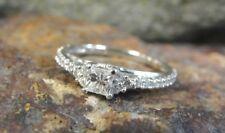 Splendid 10K White Gold .51 Carat Princess-cut Diamond Engagement Ring