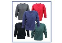 School Jumpers Ex Store Navy,Grey,Black,Red,Green Ages 3-4 to 15-16 NEW