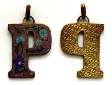Medaglia Montagna Con Smalti Località Montana Metallo Dorato cm 2,4 x 3 g. 8,5