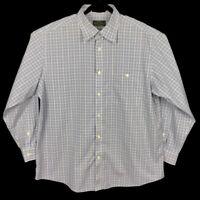 Orvis Signature Collection Mens Plaid Cotton Long Sleeve Button Shirt Size XL