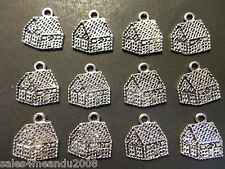 12 Christmas Gingerbread House Holiday Charms G4 Jewelry Bracelet Earring Making