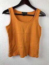 Lauren Ralph Lauren Womens Tank Top, Yellow Large Petites