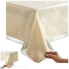 Clear Vinyl Tablecloth Heavy Duty Plastic Protector Table Cover Spill 60x108 HQ