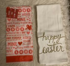 Set Of 2 Kitchen Towels, 1 Valentines 1 Easter, Both New