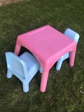 Elc Pink Table Blue Chairs Plastic Furniture