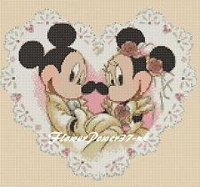 Disney cross stitch chart Mickey Mouse Minnie-Boda 5 FLOWERPOWER 37-uk