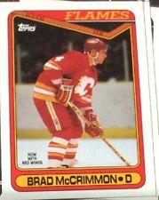 1990-91 Tops Hockey #320 Brad McCrimmon - Many Sports Card Available