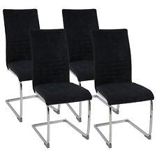 Esszimmerstühle LUGANO Stoff Freischwinger Schwing-Stuhl Set