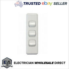 3 Gang Architrave Light Switch Triple White Electrical