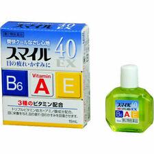 LION Smile 40 EX Eye Drops 15ml lotion Vitamin Japan Free Shipping