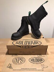 NPS SOLOVAIR Black Greasy 11 Eye Steel Toe Derby Boot! SizeUK9!New!Only
