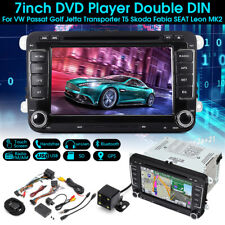 7'' 2DIN DVD Player Car Stereo Radio GPS SAT  Camera For VW Passat Jetta