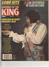 SONG HITS MAGAZINE'S TRIBUTE TO ELVIS PRESLEY COLOR CENTERFOLD MOVIES PHOTO 1979