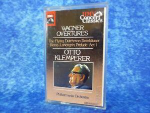 WAGNER Overtures Otto Klemperer Philharmonia RARE AUDIO CASSETTE TAPE 1960 EMI