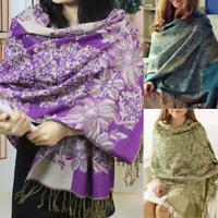Damen Lady lange weiche warme Kaschmir Schal Wrap große Winter Schal Pashmina