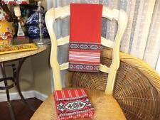"Pierre Deux Set of 2 Souleiado Christmas Border on Red/White Tea Towels 18x28"""