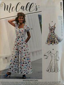 MCCALLS PATTERN 8177 spring  DRESS ASHLEY   MISSES SIZE 16-24  New