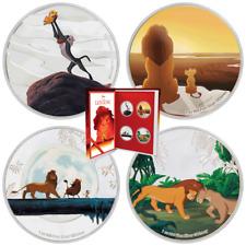 Niue - 4 x 2 Dollar 2019 - Disney König der Löwen™ Satz - 4 x 1 Oz Silber PP