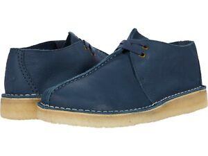 Men's Shoes Clarks Originals DESERT TREK Casual Boots 60225 BLUE NUBUCK