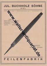 Feilen-Fabrik Buchholz / AEG Büro Kiel Große Werbeanzeige anno 1923 Reklame