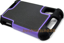 for Motorola atrix 4g mb860 rugged case triple layer soft hard purple black